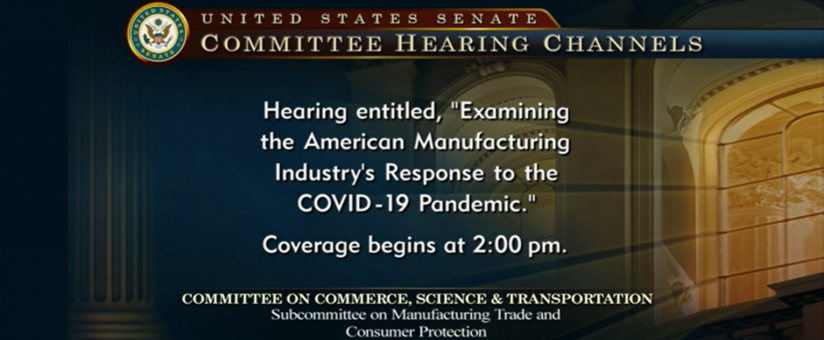 KMS CEO Testifies at US Senate Hearing on Manufacturing