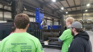Robotic welder at Summit Truck Bodies