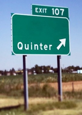 Quinter, Kansas Sign